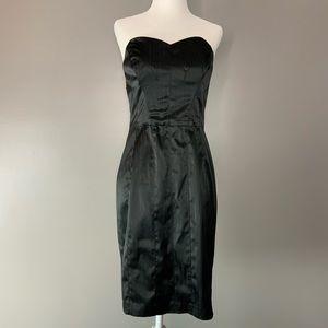Betsey Johnson pinstripe little black dress